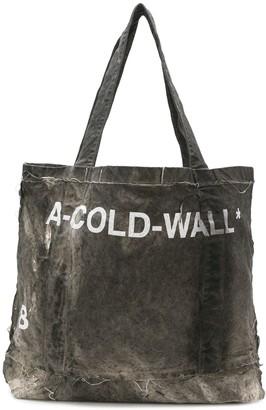 A-Cold-Wall* Distressed Logo Shopper Tote Bag