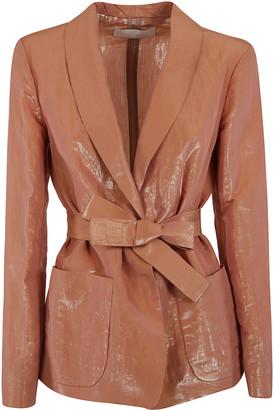 Fabiana Filippi Glossy Bow-tie Blazer