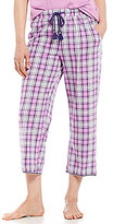 Karen Neuburger Plaid Capri Sleep Pants