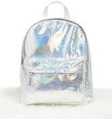 Forever 21 FOREVER 21+ Holographic Top-Zip Backpack
