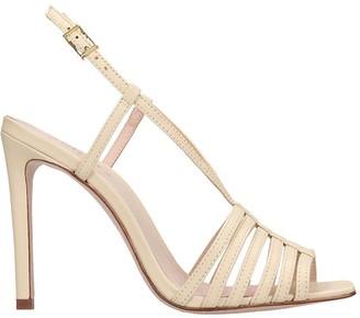 Schutz Sandals In Beige Leather