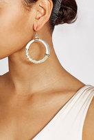Alexis Bittar Raffia Hoop Earings with 10K Gold