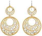 Argentovivo Two-Tone Lace Laser Cut Earrings