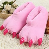 see me happy Lovely dinosaur claw indoor slippers warm and cozy fashion slippers best gift