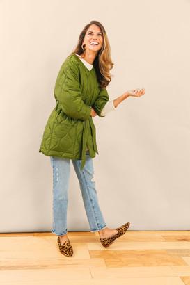 Barbour X Alexa Chung Alexa Chung Vintage Green Martha Cropped Quilt Jacket