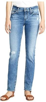 Silver Jeans Co. Elyse Mid-Rise Curvy Fit Straight Leg Jeans L03403SJL271 (Indigo) Women's Jeans