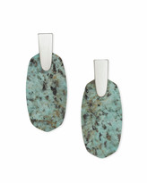 Kendra ScottKendra Scott Aragon Silver Drop Earrings in African Turquoise