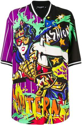 Dolce & Gabbana comic print short-sleeve shirt