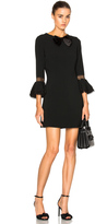 Saint Laurent Sable Bell Sleeve Dress with Bow