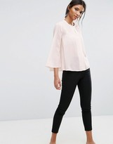 Selected Collarless Blouse