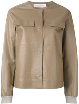 Fabiana Filippi bomber jacket - women - Cotton/Leather - 40