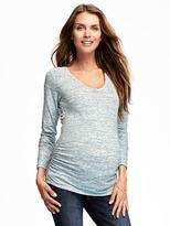Old Navy Maternity Fitted Space-Dye Scoop-Neck Tee