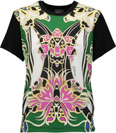 Just Cavalli Printed crepe and stretch-jersey T-shirt
