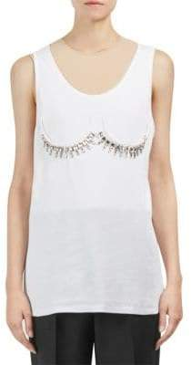 Maison Margiela Ribbed Sleeveless Bra Detail Top