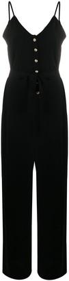 Balmain Button-Up Sleeveless Jumpsuit