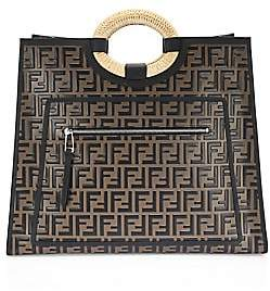 Fendi Women's Runaway Leather Shopper
