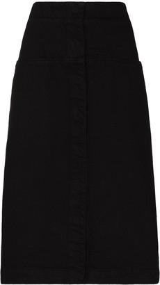 Lemaire denim A-line skirt