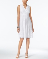 NY Collection Petite Crochet Surplice Dress