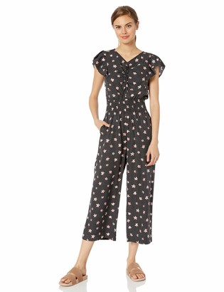 Rebecca Taylor Women's Sleeveless Maui Floral Jumpsuit