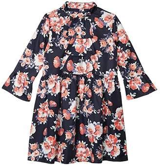 Janie and Jack Ruffle Sleeve Dress (Toddler/Little Kids/Big Kids) (Multi) Girl's Dress