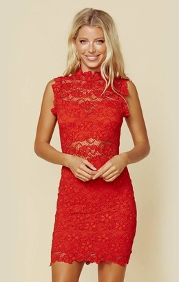 Nightcap Clothing DIXIE LACE CUT OUT MINI DRESS | Sale