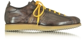 Forzieri Italian Handcrafted Coffee Washed Leather Sneaker