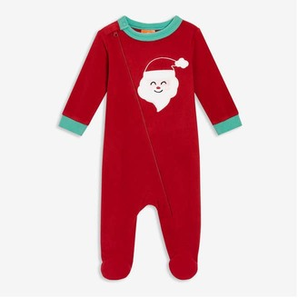 Joe Fresh Baby Girls' Footed Sleeper, Red (Size 3-6)