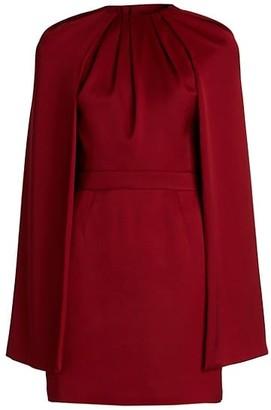 Alexander McQueen Cape Wool Mini Dress