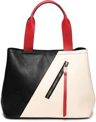 Elena Ghisellini Color-block Leather Tote