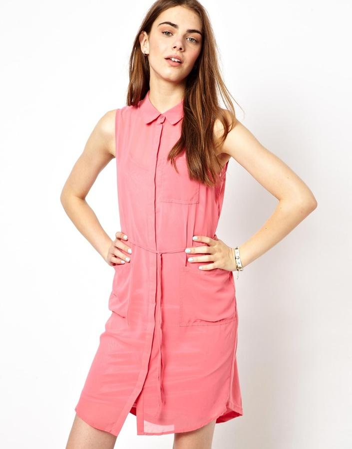 Vero Moda Sleeveless Shirt Dress