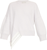 Stella McCartney Lace insert wool and silk-blend sweater