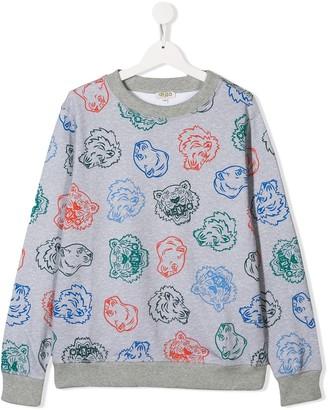 Kenzo TEEN animal print sweatshirt