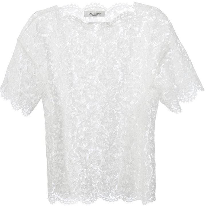 Valentino floral macramé t-shirt