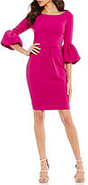 Laundry by Shelli Segal 3/4 Bell Sleeve Sheath Dress