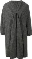 Y's shawl lapel loose-fit coat - women - Cotton - 2