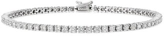 777 18kt White Gold Diamond Tennis Bracelet