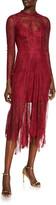 Ever New Long-Sleeve Godet-Hem Midi Lace Dress