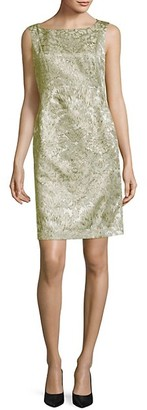 Lafayette 148 New York Faith Metallic Printed Sheath Dress