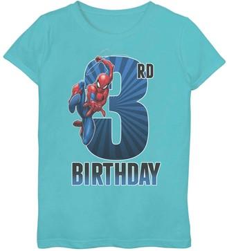 Spiderman Licensed Character Girls 7-16 Marvel 3rd Birthday Tee