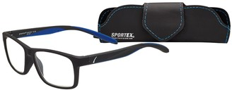 Select A Vision Select-A-Vision Men's Sportex Ar4163 Sport Green Square Reading Glasses 29 mm + 1.25