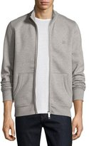 Burberry Sheltone Front-Zip Sweatshirt, Pale Gray Melange