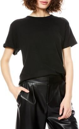 Alice + Olivia Corey Roll Sleeve T-Shirt