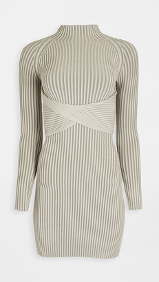 Dion Lee Stripe Rib Twist Mini Dress