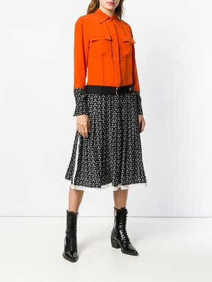 Chloé Pleated Shirt Dress
