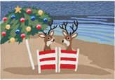 Liora Manné Liora Manne' Front Porch Indoor/Outdoor Coastal Christmas Mult 2' x 3' Area Rug