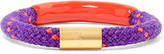 Marc by Marc Jacobs Gold-tone, enamel and cord bracelet
