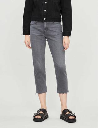 Topshop Raw-hem straight high-rise jeans