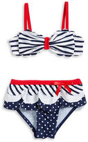 Flapdoodles Baby Girls Mixed Pattern Bikini Swimsuit Set