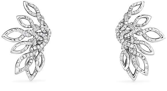 David Yurman Continuance Climber Earrings with Diamonds in 18k White Gold