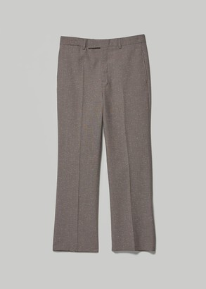 Lemaire Men's Suit Pant in Grey/Red Stripe Size 46